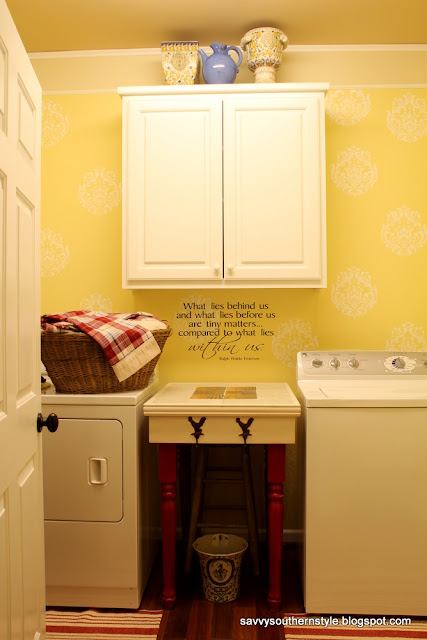 Laundry Room Paint Color - Hawthorne Yellow by Benjamin Moore