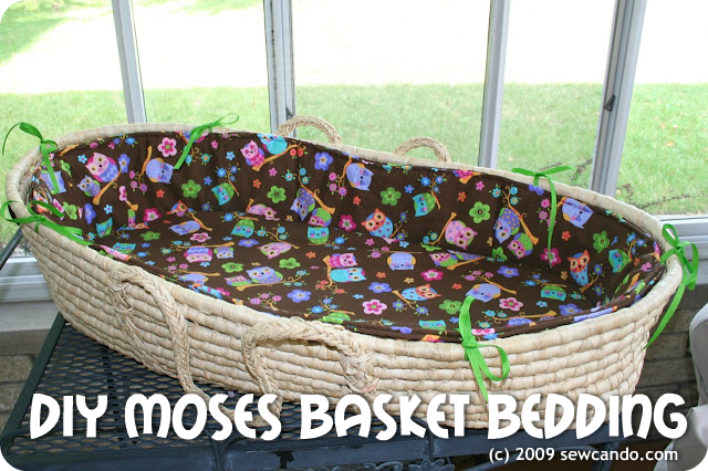 sew can do moses basket redo bedding tutorial. Black Bedroom Furniture Sets. Home Design Ideas