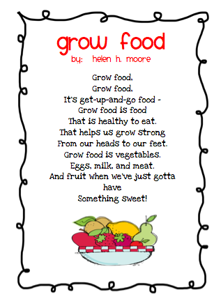 The Very Busy Classroom: Grow Food Poem