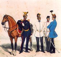 Associazione legittimista trono e altare campagna militare del 1859 una carica di cavalleria - La tavola degli ufficiali ...