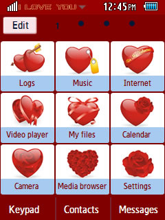 General Happy Valentine's Day 2013 Samsung Corby 2 Theme Menu