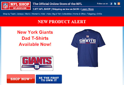 Click to view this June 5, 2011 NFLshop email full-sized