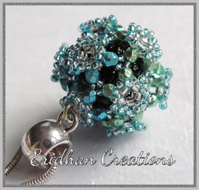 beaded ball pendant
