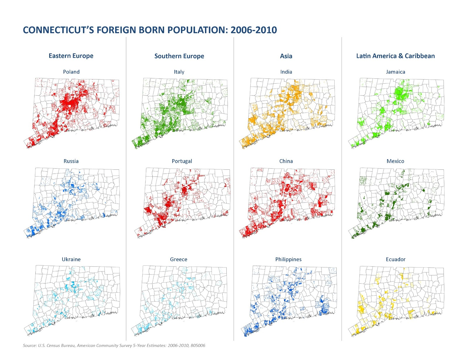 mapping connecticut s foreign born population