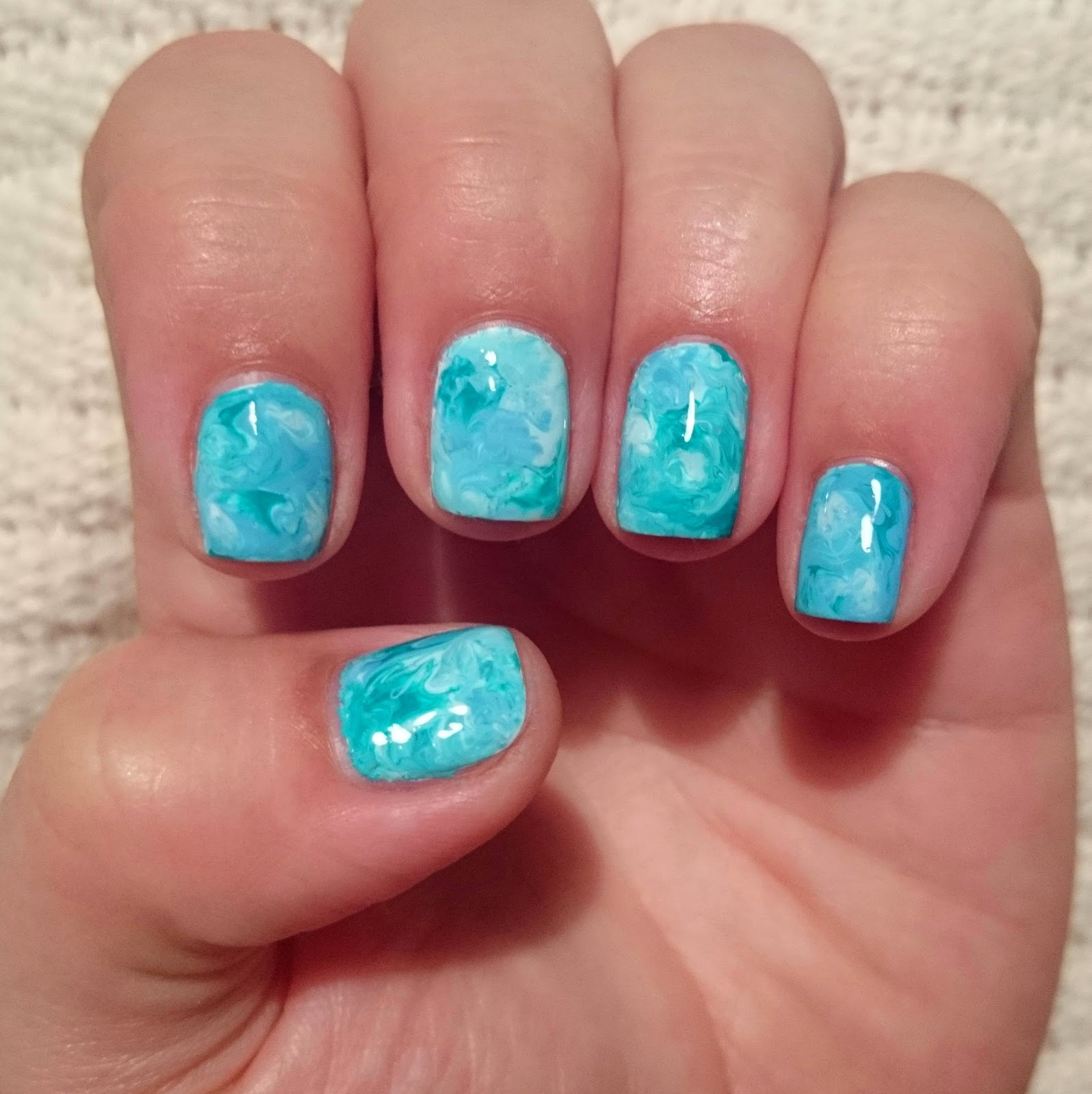 Toothpick Nail Art Designs: Dahlia Nails: Toothpick Marble Effect