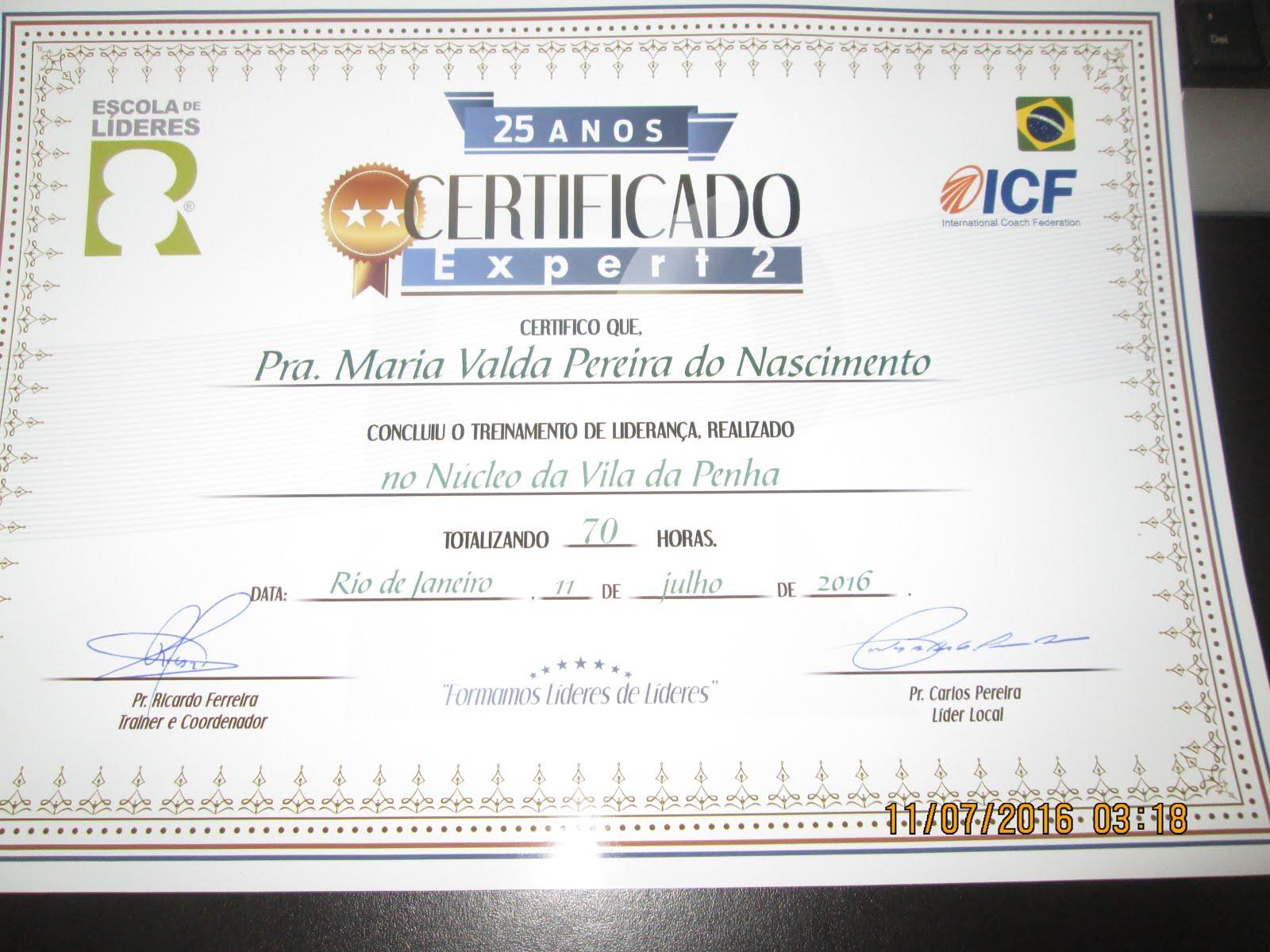 CERTIFICADO EXPERT 2