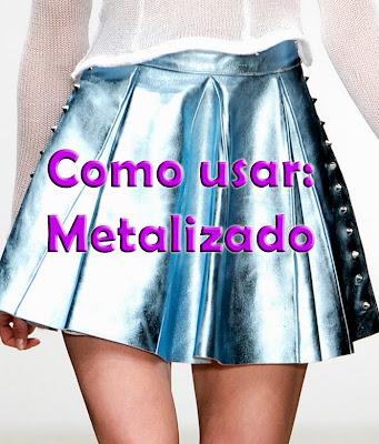 Como, usar, Metalizado