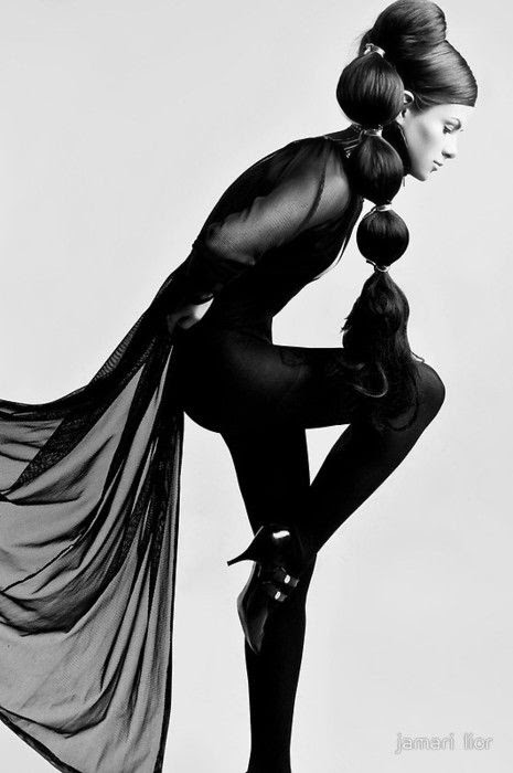 DownDo.....Fashion Art in an Artsy Pose | Editorial - Portrait - Fashion - Photography - Black and White - Pose Idea / Inspiration