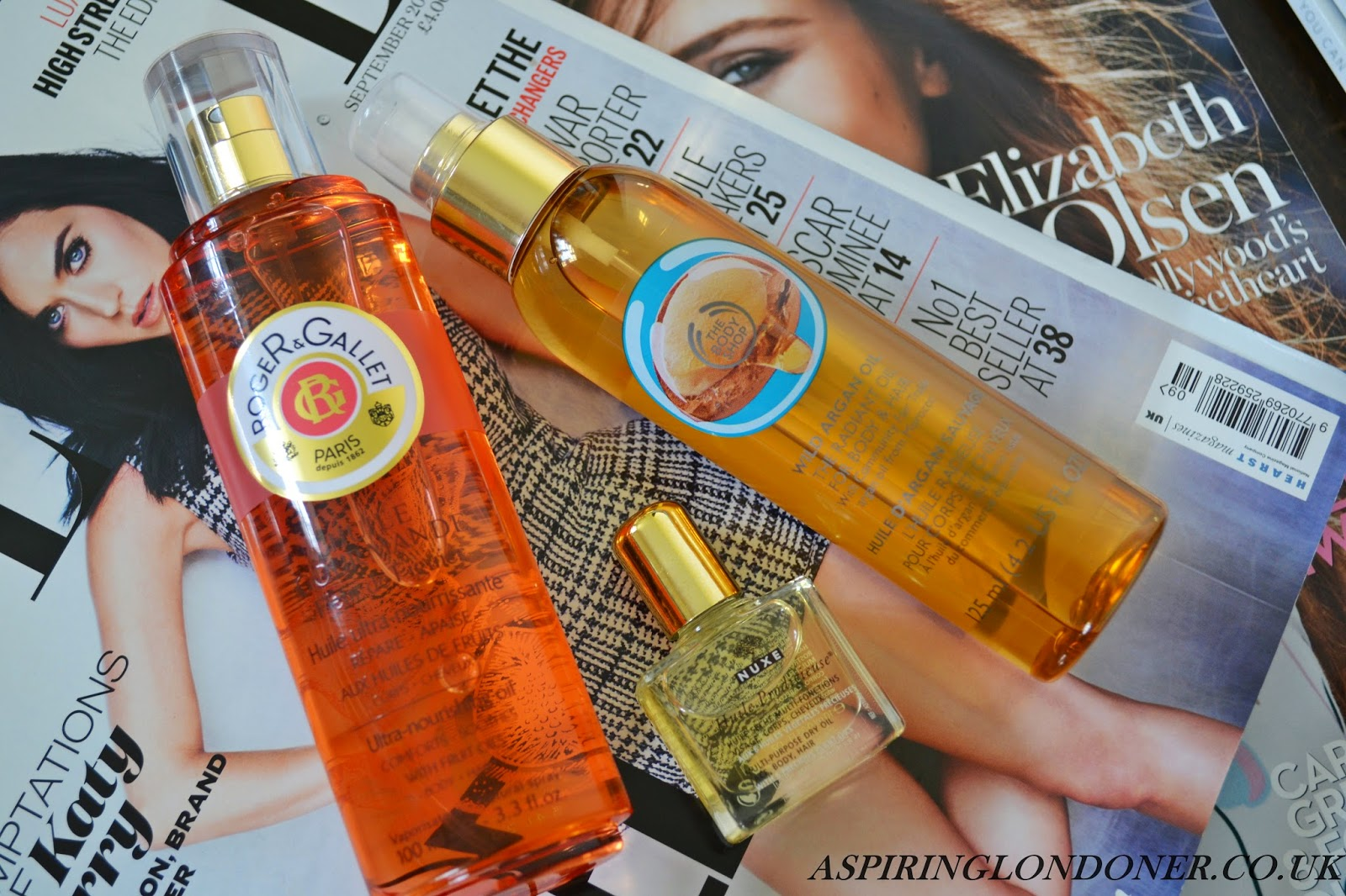 Dry Oils ft. Roger & Gallet Ultra Nourishing Fig Oil, The Body Shop Argan Oil Radiant Oil & Nuxe Multi-Usage Dry Oil - Aspiring Londoner