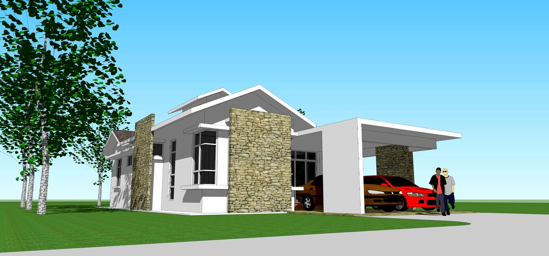 bina rumah atas tanah sendiri rekabentuk rumah idaman