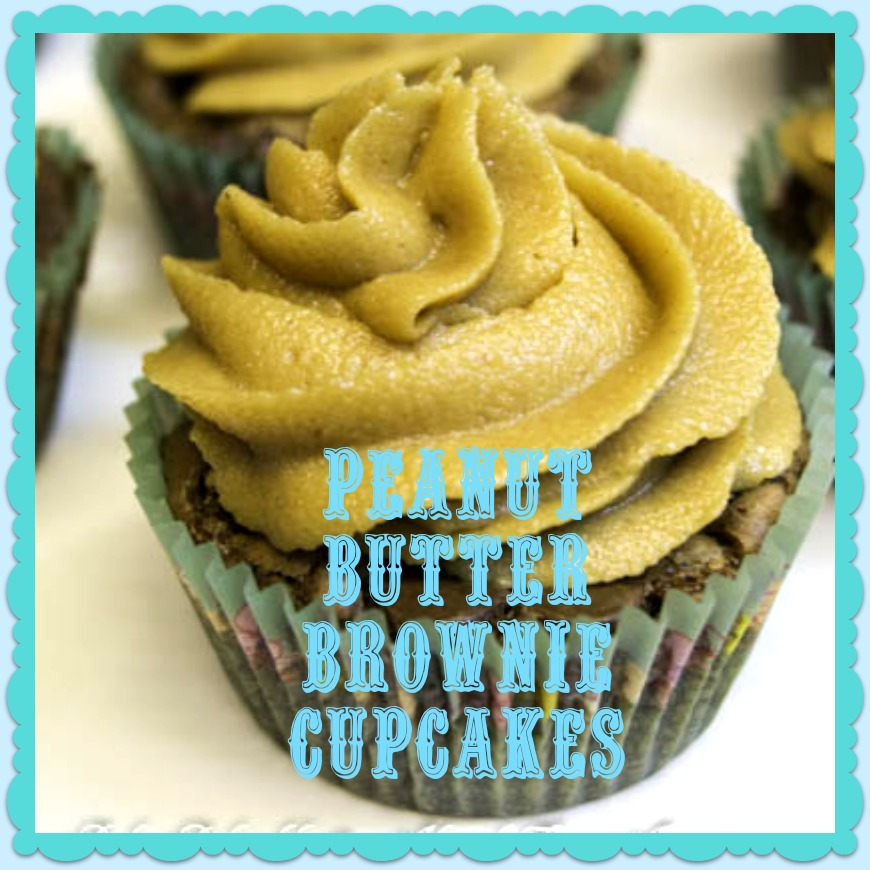 Adorned From Above: Peanut Butter Brownie Cupcakes