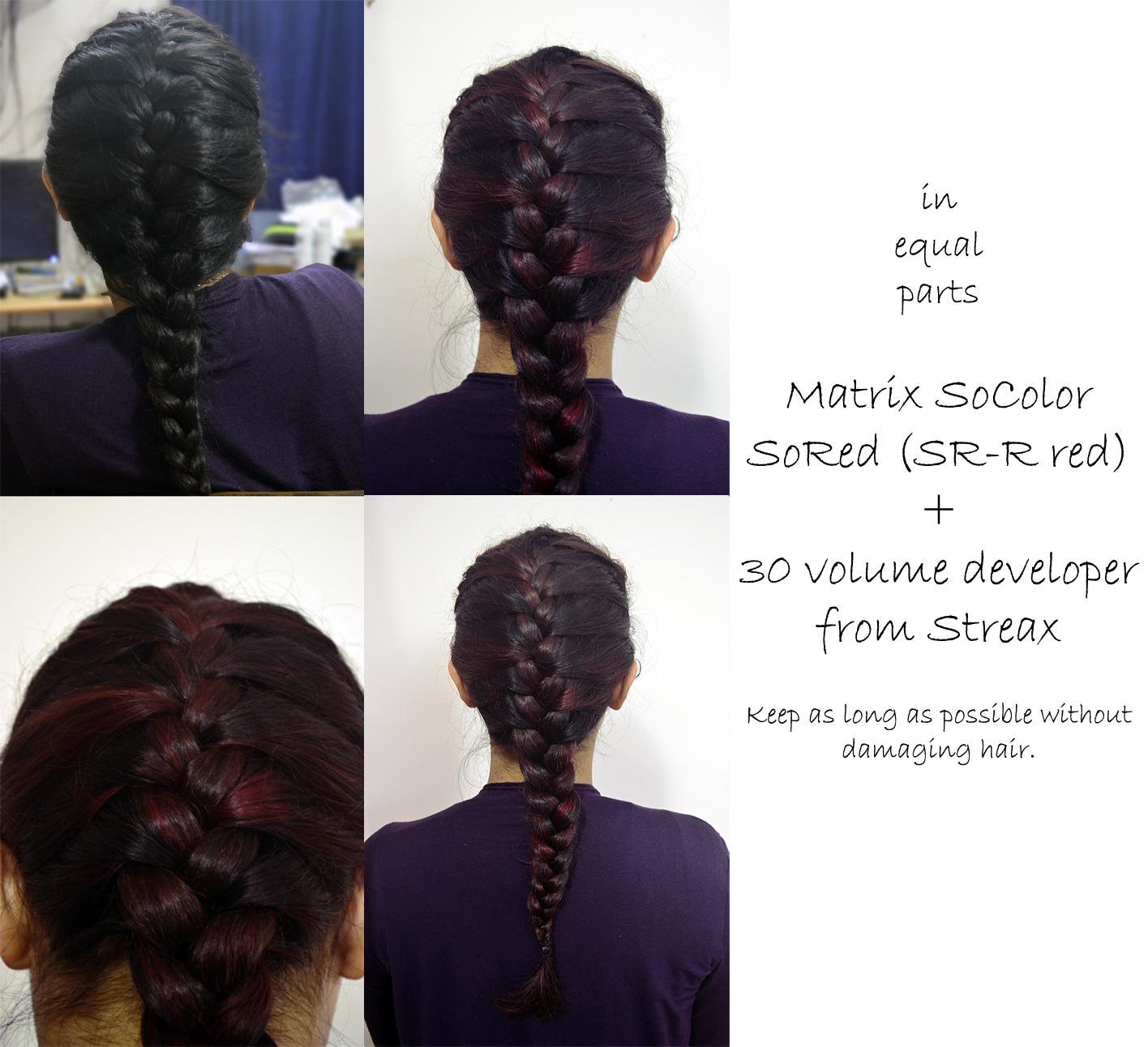 matrix socolor sored red hair