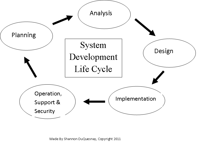 Steps in the System Development Life Cycle