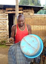 Repairing a Plastic Basin Rwandan Style