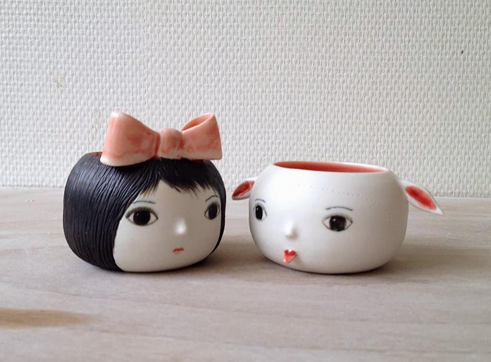 tazas de ceramica de nathalie choux