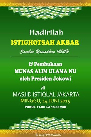 1000 Santri dan Ulama Bandung Barat Ramaikan #IstighosahNU 2015 di Jakarta