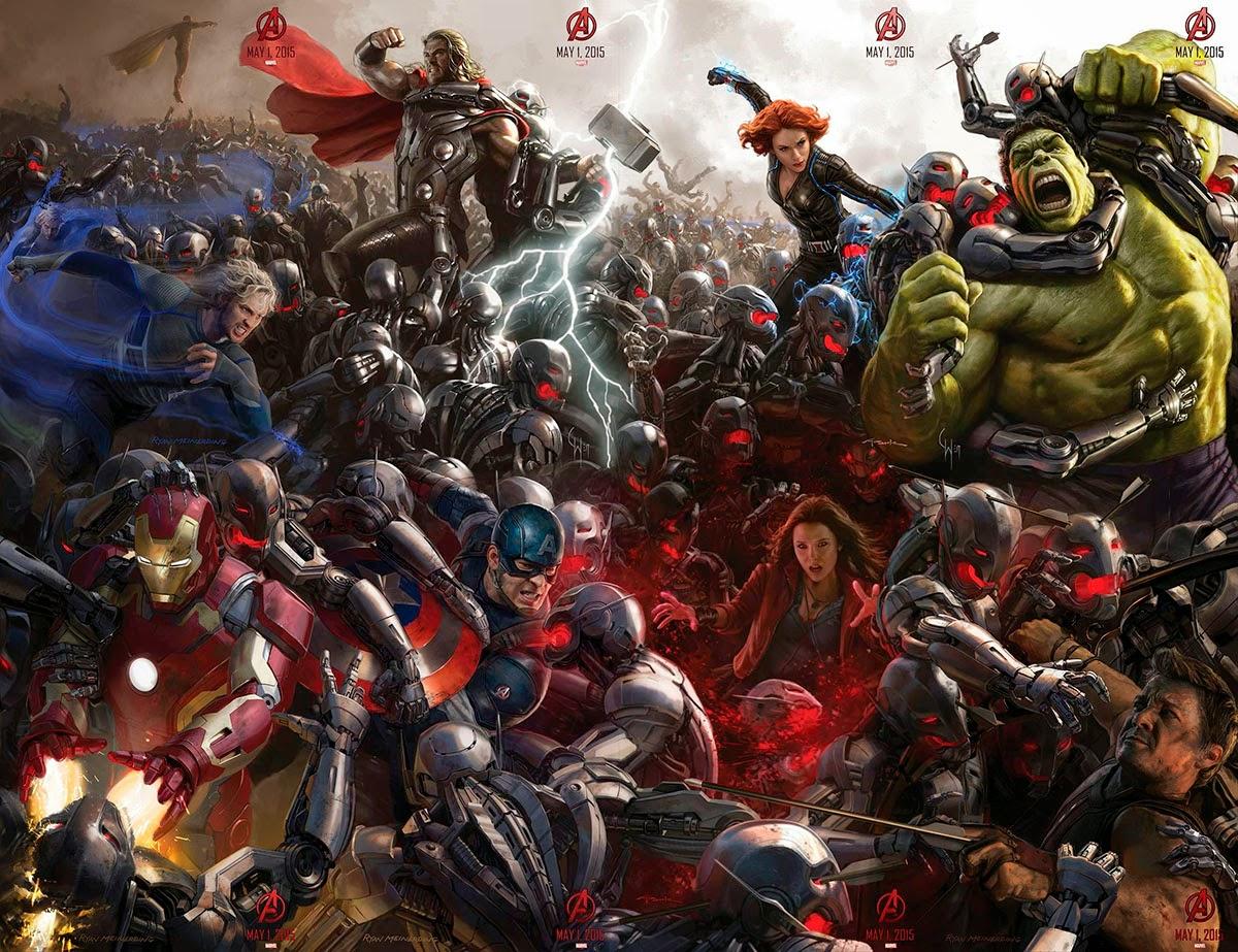 """Super Poster de """"Los Vengadores : La Era de Ultron"""""""