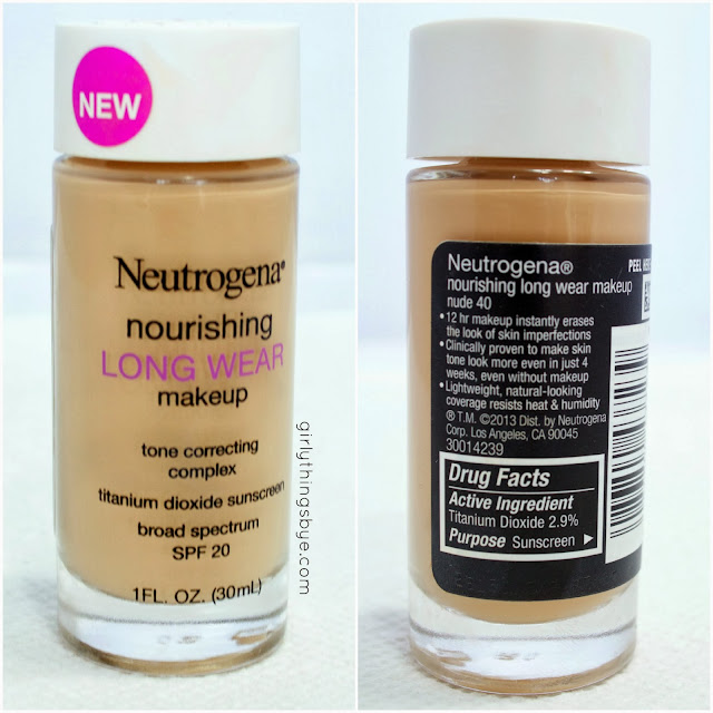 Neutrogena Nourishing Long Wear Tone Correcting Foundation