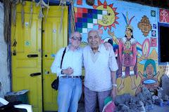 El  autor con Renan Huatalcho, piqueño, incansable defensor de los Salares andinos. .