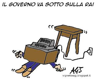 RAI, governo, satira vignetta