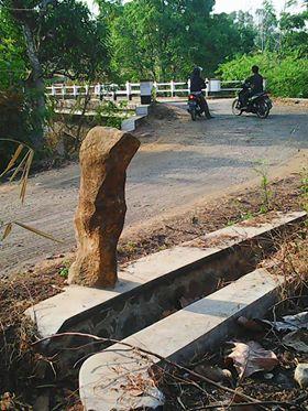 Batu Buku Bambu dipinggir Jalan Cipaku Menuju Cisema