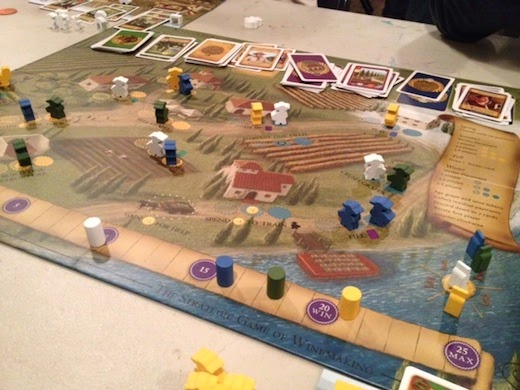 Viticulture game board mid-play