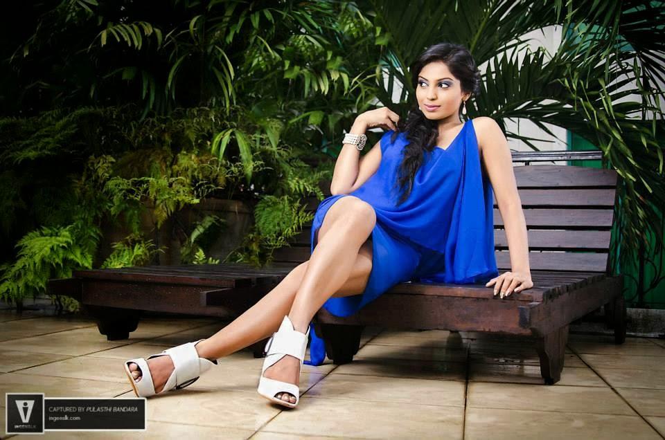 Shehani Wijethunge hot blue legs