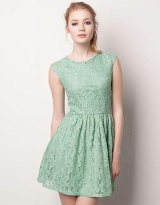 vestido estilo romantico