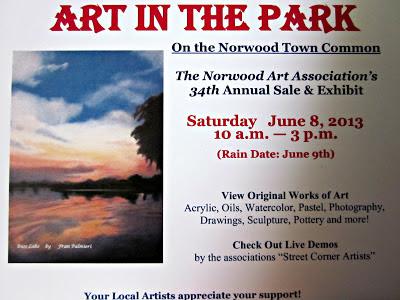 Art Show Norwood MA June 8 2013