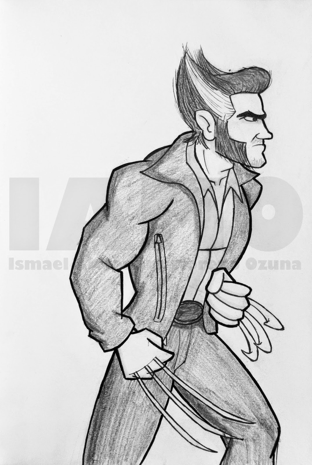 Wolverine X-Men Days Of Future Past Sketch by IAMO