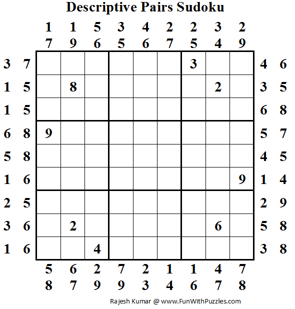 Descriptive Pairs Sudoku (Fun With Sudoku #48)
