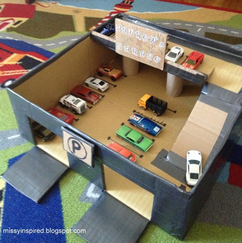 Как сделать гараж для машинок из