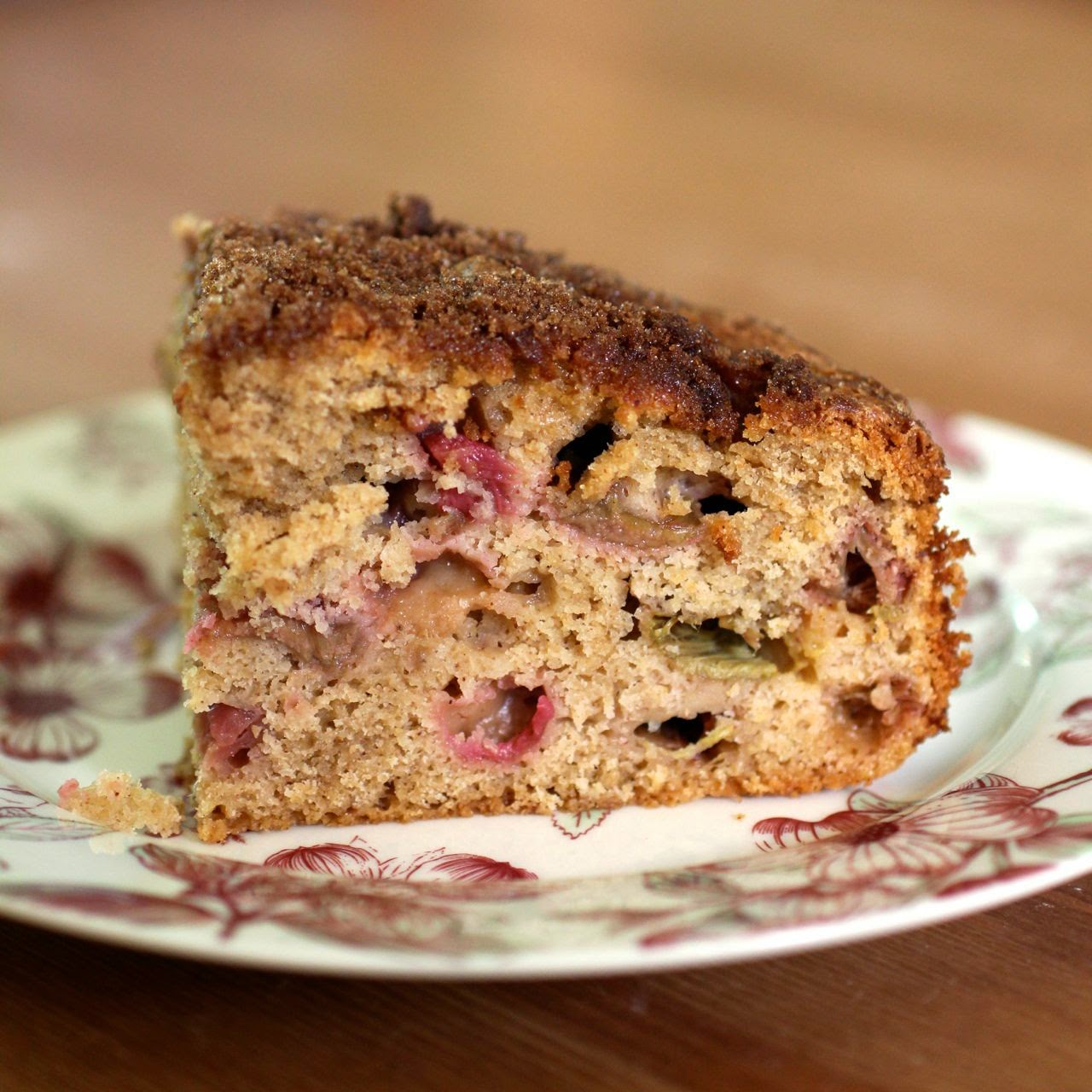 Rhubarb cake, random notes, and long service leave