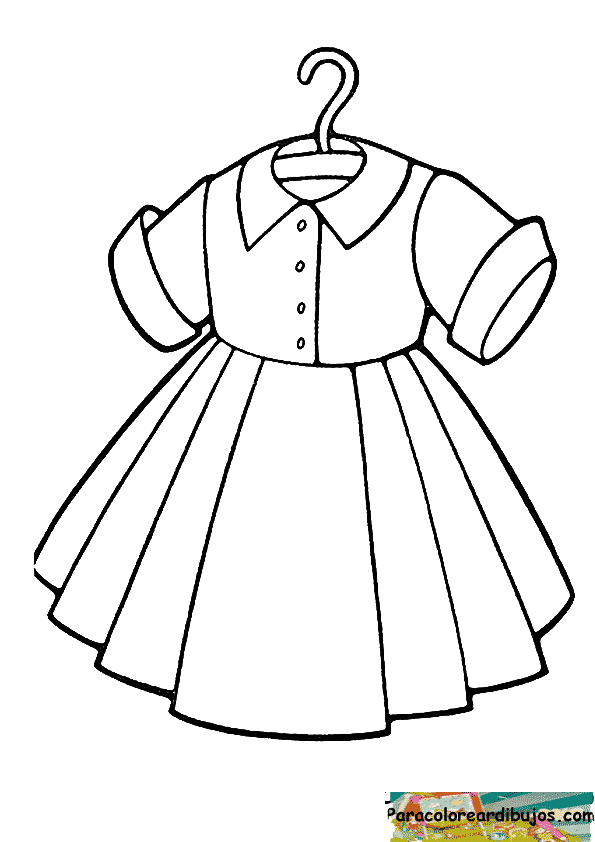 dibujo de vestido para colorear | Para colorear dibujos y dibujos