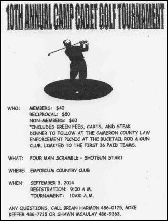 9-3 Camp Cadet Golf Tournament