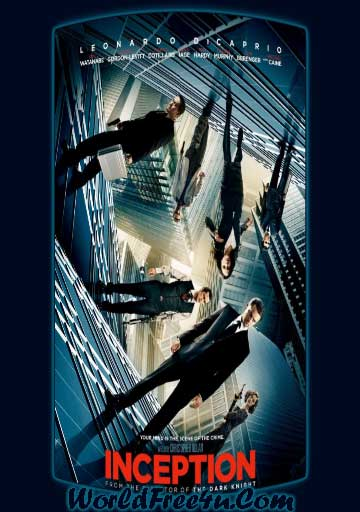 Poster Of Inception (2010) In Hindi English Dual Audio 300MB Compressed Small Size Pc Movie Free Download Only At worldfree4u.com