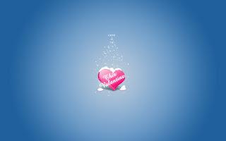 This Valentine Blue Love Wallpaper