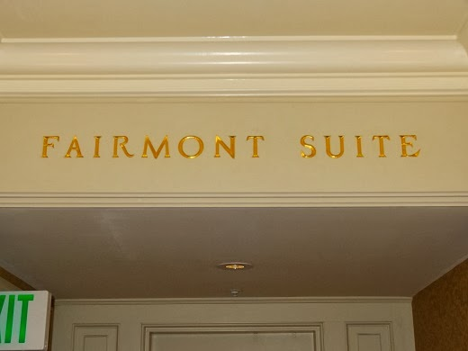 Entrance to Fairmont Suite in San Francisco