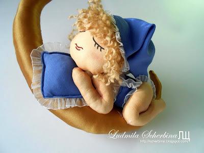 интерьерная кукла Спящий ангел