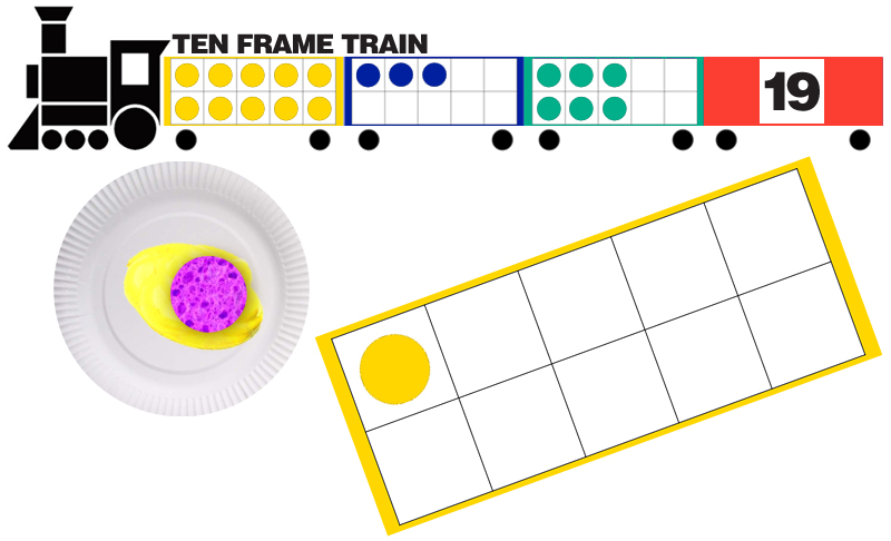 a Paper Ten Frame Train