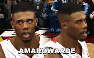 NBA 2K13 Norris Cole Cyber Face Mod