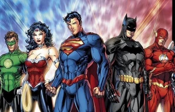 Justice League of America - Green Lantern, Wonder Woman, Batman, and the Flash