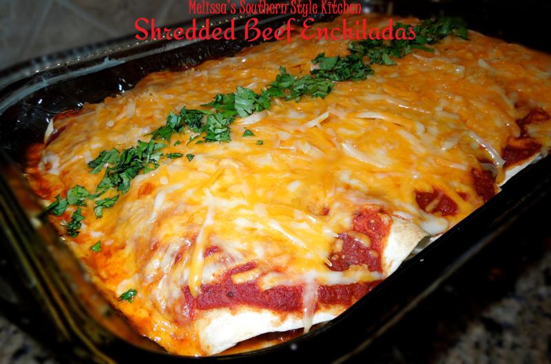 Shredded Beef Enchiladas With Homemade Enchilada Sauce Recipes ...