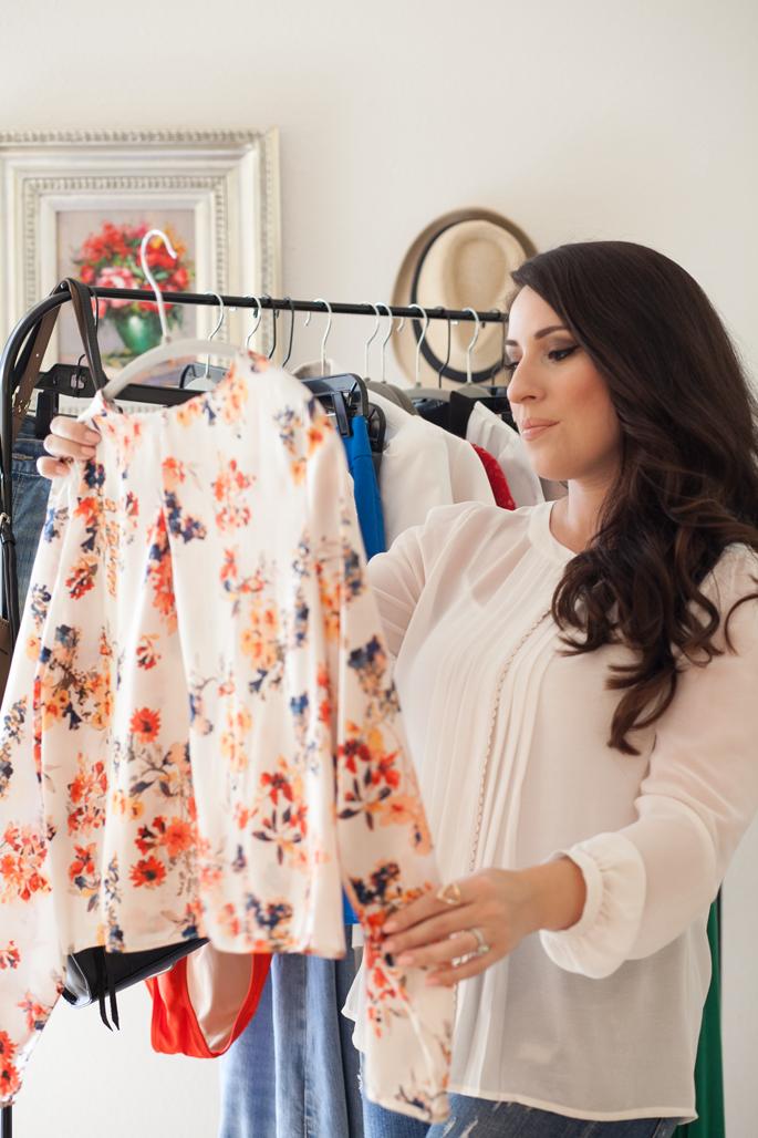 king and kind blog, 7 wardrobe planning tips, florals