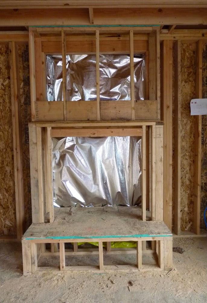 Mill Pond Cottage Fireplace Progression