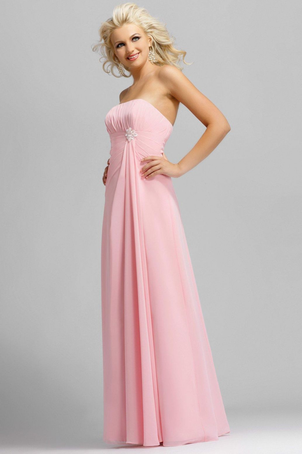 Long bright pink bridesmaid dress designs wedding dress for Image of wedding dresses