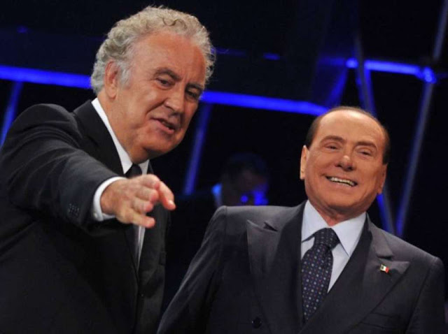 Santoro and Berlusconi discussing on air
