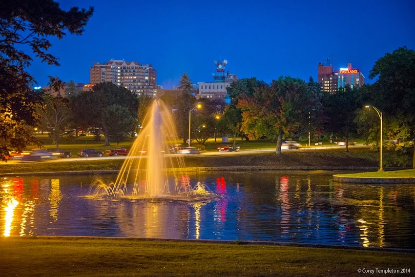 September 2014 Portland, Maine from Deering Oaks Park at night photo by Corey Templeton