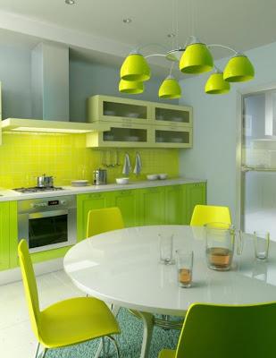 Desain Dapur Cantik Minimalis Nuansa Hijau