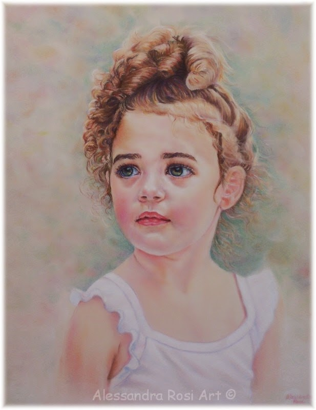 hand painted child portrait, baby portrait from photo, child pastel portraits